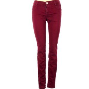 Tinsletown Maroon Stretch Jeans